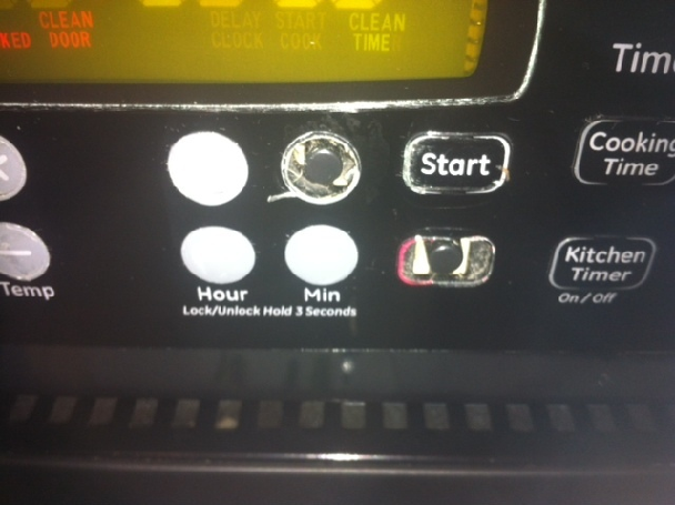 Ge Oven That Has The Buttons That Are Peeling Off Steve